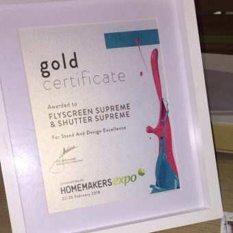 Homemakers Gold Award Certificate