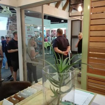 Some Expo Visitors at the Homemakers Expo Stand